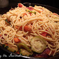 Fresh Tomatos w/ Grilled Veggies & Spaghetti