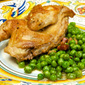 Quaglie coi piselli (Quail Braised with Peas)