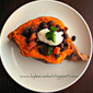 Baked Sweet Potatoes with Warm Black Bean Salad