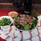 Smoked Turkey Confit Carnitas Salad with Orange Vinaigrette