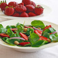 Watercress Salad with Strawberries and Hazelnuts
