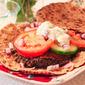 Falafel Style Lentil Burgers with Creamy Feta Sauce