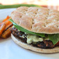 Black Bean Burgers with Avocado Cream Sauce