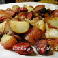 Oven Roasted Potatoes Onions and Kielbasa
