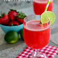Strawberry Lime Agua Fresca