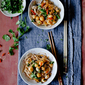 Soba Noodles with Scallops in Wine Sauce