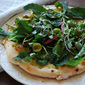 Cauliflower and Baby Greens Salad Pizza