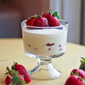 #ChocolateParty: White Chocolate Mousse with Strawberries and Strawberry Balsamic Vinegar