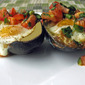 Recipe #359: Baked Egg in an Avocado Topped with Homemade Pico de Gallo