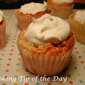 Easy Peach Angel Food Cupcakes