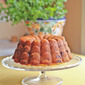 #BundtaMonth: Lemon Mint Rhubarb Breakfast Bundt Cake with Blueberries