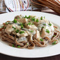 Porcini Mushroom Linguine with Chicken, Shiitakes and Gorgonzola (+ GIVEAWAY!)