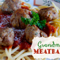 Grandma's Meatballs Guest Post from Wine & Glue