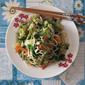 Vegetables and Mushrooms Medley Noodles 蔬菜蘑菇炒面