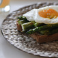 Honey Wheat Toast with Roasted Asparagus and Poached Egg