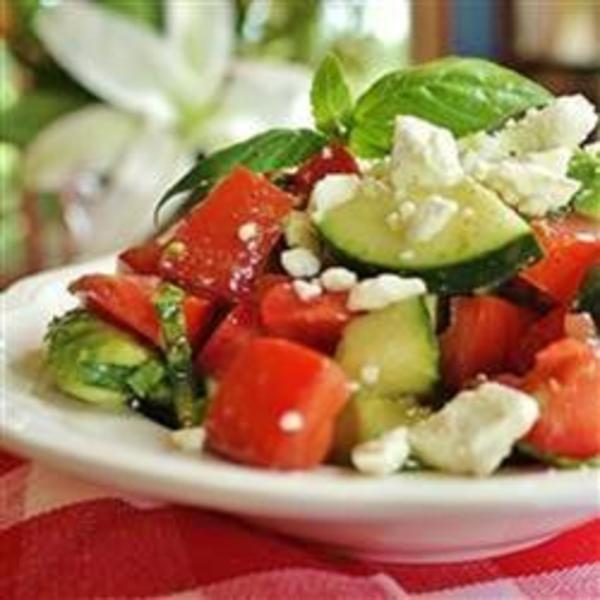 Tomato-Veggie and Feta Salad Recipe by Shalina - CookEatShare