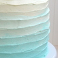 Vanilla White Cake with Ombre Swiss Meringue Buttercream