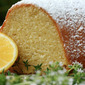 semolina bundt cake with lemon and thyme
