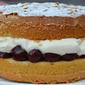 Cherry and Almond Victoria Sandwich: Recipe