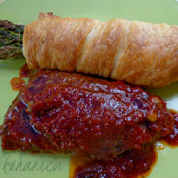 Puff pastry asparagus bundles with veal Recipe