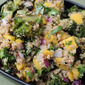 Quinoa Broccoli Salad with Mango, Red Onion, and Indian Vinaigrette
