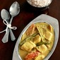 Fish curry with Raw Mango and Drumsticks in a spicy Coconut gravy