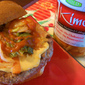 Korean-inspired Burgers with Kimchi and Sriracha Mayo