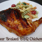 Beer-Braised BBQ Chicken