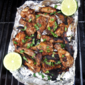 Jerk Chicken Wings Grilled in A Foil Packet