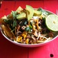 Ground Turkey Taco Salad with Corn & Black Beans