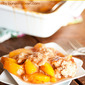 Honey Cinnamon Peach Cobbler & A Giveaway!