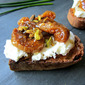Tartines w/ Pickled FIGS, Ricotta & Pistachios