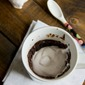 Chocolate Mug Cake with Cherry Whipped Cream
