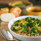 Broccoli and Farro Salad with Vidalia Onion Vinaigrette
