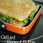 Go Bold or Go Home: Grilled Peanut Butter Rainbow Sandwich