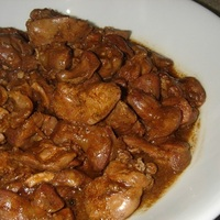 Adobong Atay-Balunbalunan (Chicken Liver and Gizard Adobo)