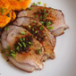 Roasted Pork Loin Recipe with Sweet Potato and Rice Cakes