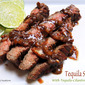 Grilled Tequila Flank Steak with Tequila-Cilantro Sauce