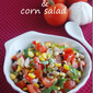 Black eyed peas and corn salad