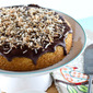 Chocolate Glazed Coconut Cake