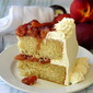 Roasted Peaches and Cream Cake