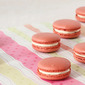 Red velvet macarons with ermine frosting