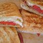 Pancetta and Provolone Panini with Grilled Peppers
