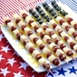 American Flag Fruit Skewers with Easy Lemon Curd Sauce