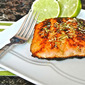 Pan Seared Honey Glazed Salmon with Browned Butter Lime Sauce