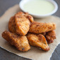 Crispy Chicken Tenders with Herb Dipping Cream