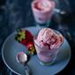 Roasted Strawberries Frozen Yogurt