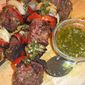 Grilled Beef Skewers with Chimichurri