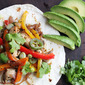 Chicken Fajitas with Avocado