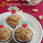 Eggless oats rava banana muffin
